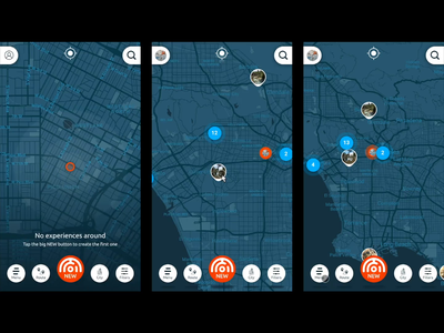 Dscova Interactions 2 app map geolocation implementation web experience ux transition interaction animation