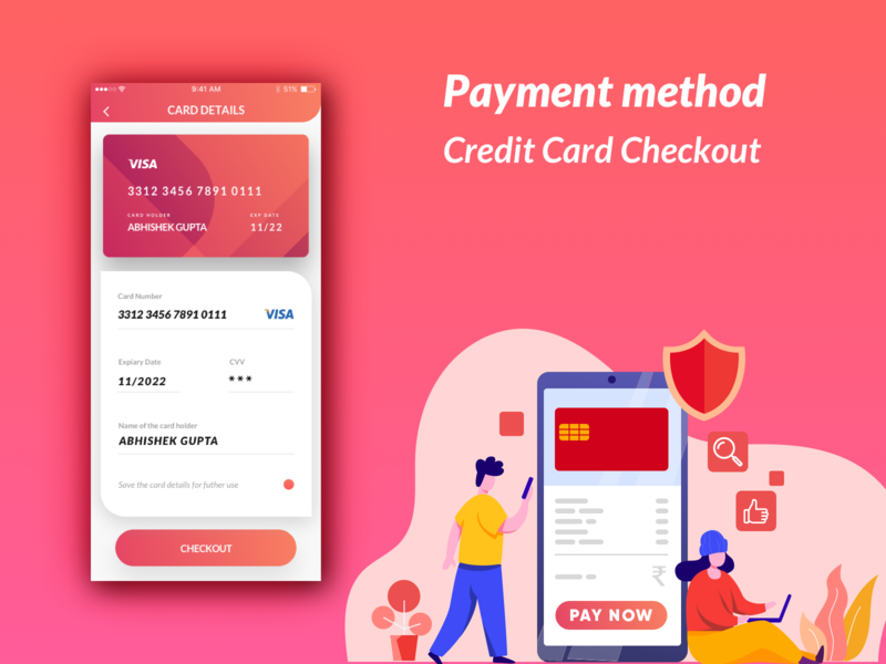 Payment method Credit Card Checkout