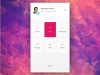Menu design for mobile app