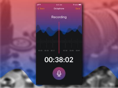 Mobile Recording screen