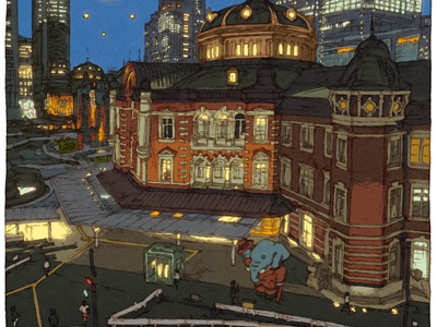 100 views of Tokyo/Tokyo station(Marunouchi)