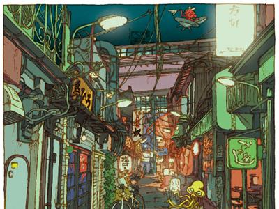 100 views of Tokyo/Sankaku chitai(Sangenjaya)