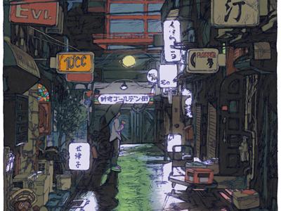 100 views of Tokyo/Shinjuku Goldengai(Shinjuku)