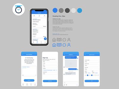COLLAB Brand Board typography branding ux ui design app
