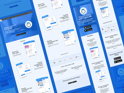 COLLAB Web and Mobile Page ui branding ux design app