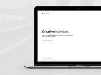 Landing page readymag site simple portfolio minimal black white ui design web personal ismet