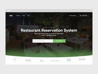 Eat B2B Landing page homepage marketing page minimal b2b web landing green design
