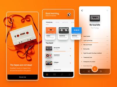 Cassette Music Player UI application app design prodigy music player tapes cassette concept app ui