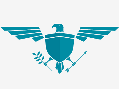 Updated Presidential Icon wings bird eagle icon shield arrow leaf president