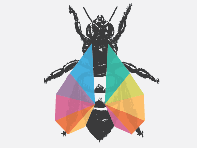 bee. logo wip bee wings insect