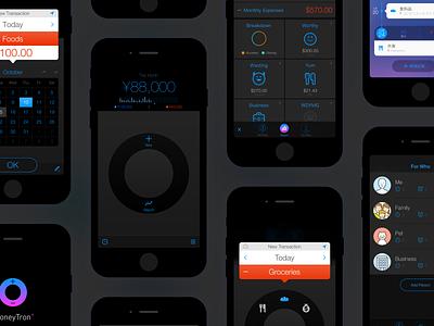 MoneyTron+ mobile app app ui iphone
