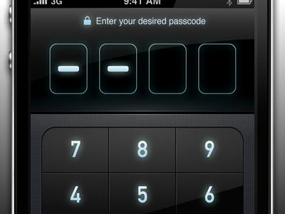 Passcode screen of MoneyTron iphone passcode