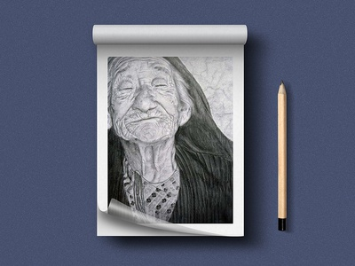 The Tribal Lady drawing pencil art sketch