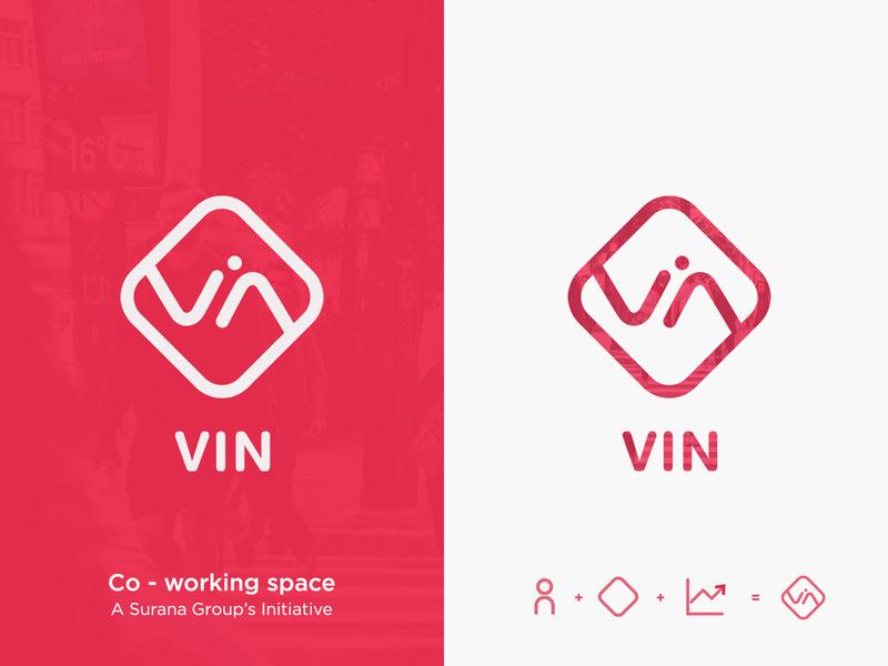 Vin Logo illustration branding growth logo
