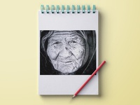The Old Lady Pencil Sketch