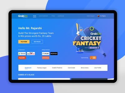 Cricket Fantasy Contest world cup website landing page branding ux  ui interface cup illustration logo winners play game contest fantasy ipl cricket