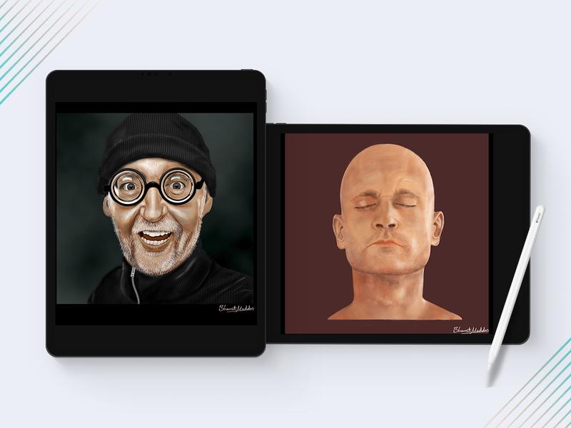 Digital Paint Portraits colours colors portrait digital illustration digital painting tablet wacom illustration photoshop sketch painting digital art