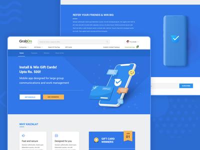 Microsoft Kaizala Landing Page Branding