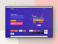 GrabOn Diwali Contest Landing Page campaign celebration festival badge logo landing page branding design user experience user interface