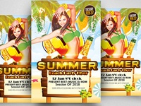 Free Summer Beach Flyer Free Template