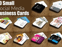 10 Multiuse Mini Contact Card Bundle