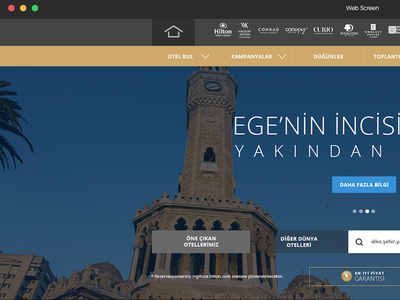 Hilton hotel Web page User experiance / İnterface design