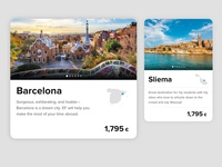 Destination cards