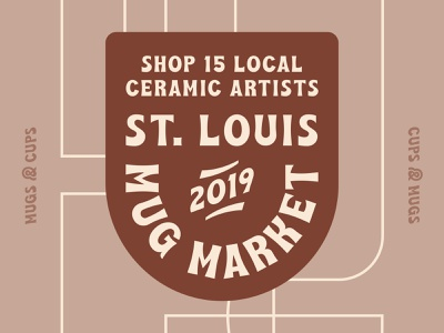 Mug Market 2019 event branding event typography design