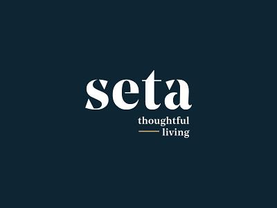 Seta Branding type logo branding typography design