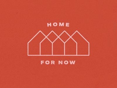 Home For Now vector typography design