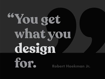Quote [01] design typography