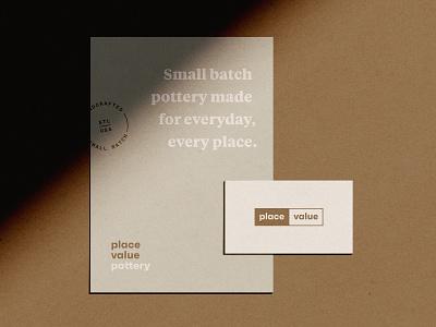 Place Value Pottery logo branding typography design