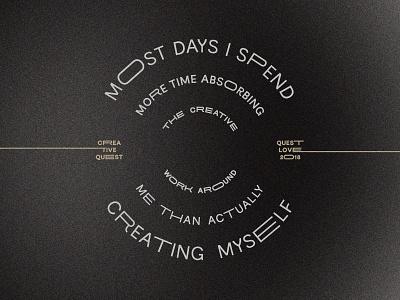 Creative Quest vector type typography design