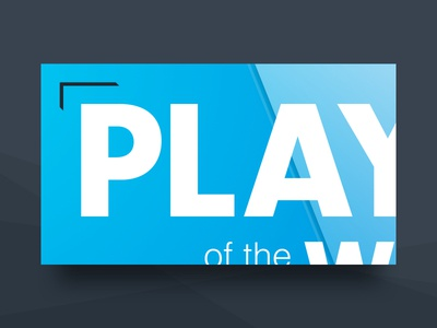 Hudl Player of the Week Animation Frame