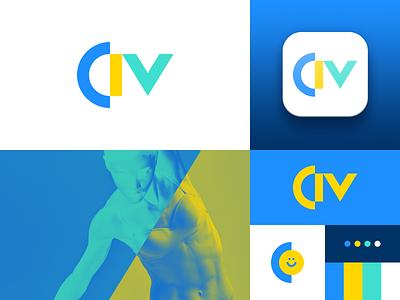 CIV - Colégio Internacional de Vilamoura app icon branding vector logo design portugal bruno silva