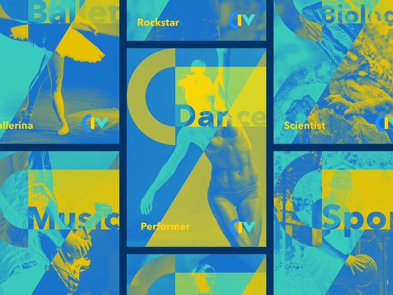 Poster for CIV - Colégio Internacional de Vilamoura poster typography branding logo design portugal bruno silva
