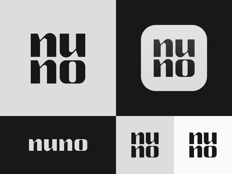 Nuno wordmark icon app typography branding logo design portugal bruno silva