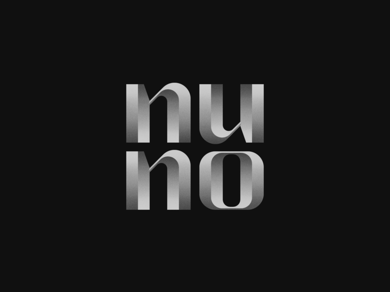 Nuno wordmark nuno typography branding logo design portugal bruno silva