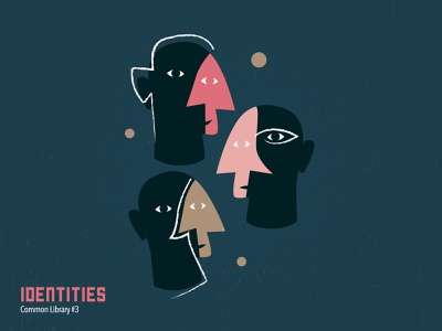 Indentities identity people faces book art book cover design book cover book design drawing vector illustration