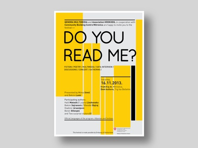 Do You Read Me - Poster design