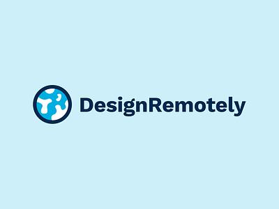 DesignRemotely remotework remote world globe launch product design logo branding