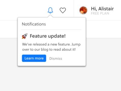 Notification dropdown bell popup button ui dropdown notification