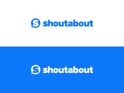 Shoutabout identity symbol mark logotype logo letterform identity design