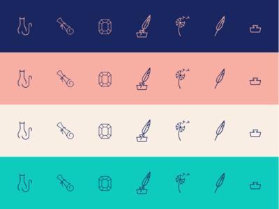 Icons and Colors colors branding icons