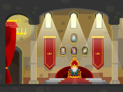 In the hall of the king indie king medieval fantasy asset game art background environment level flash animation illustrator flash card animatecc animated adobe vector