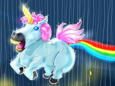 Toxic unicorn gameart sketchbook character art sketch fat beast fantasy illustration cute crazy unicorn