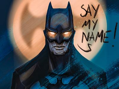 SayMyName cartoon character digital painting illustration comics batman