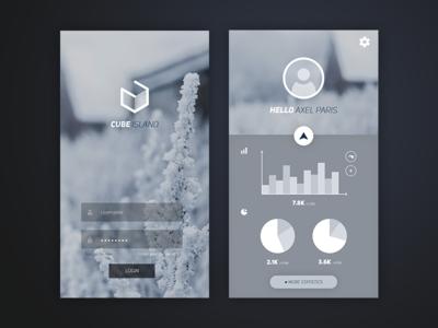 Cube Island mobile Application
