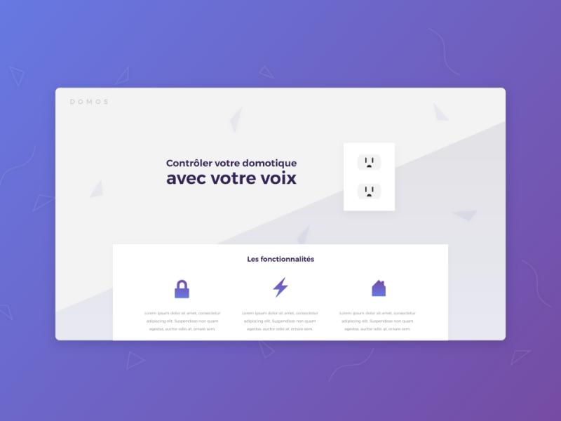 DOMOS Concept purple modern app webdesign