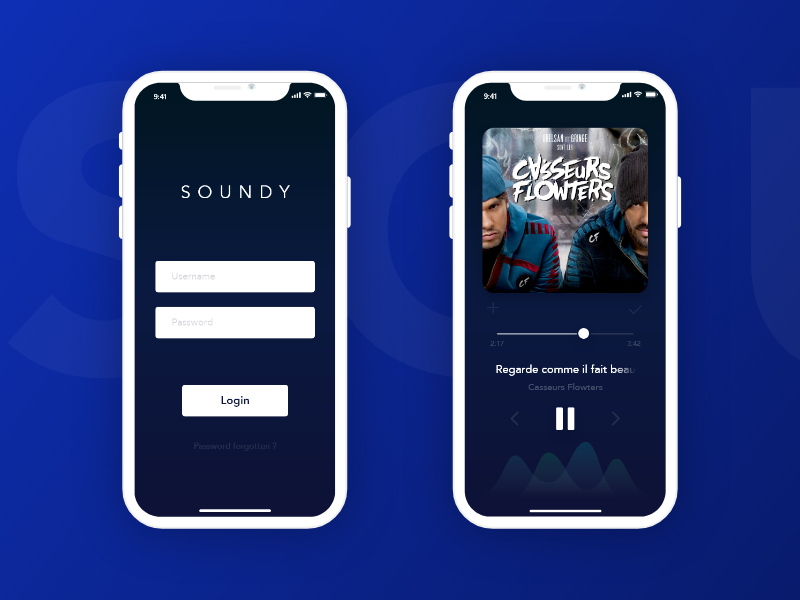 SOUNDY Music App iphone x iphone app music soundy